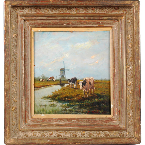 Oil Painting on Board by Dutch artist Jacob Maris