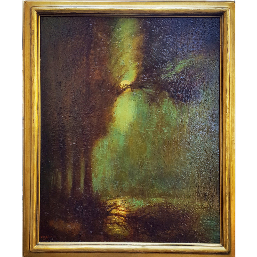 Oil Painting on Canvas by H.M. Kitchell (1862-1944)