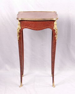 Louis XV style ormolu mounted small table, France, c.1880