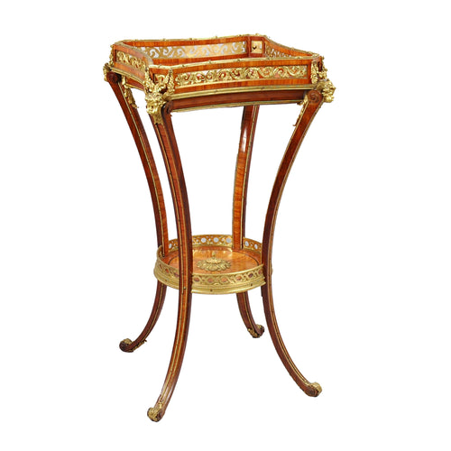 Antique Louis XVI style Guéridon table ormolu mounted, France