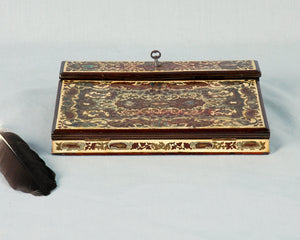 Antique Writing Slope, or Lapdesk, Inlaid, France, c.1850