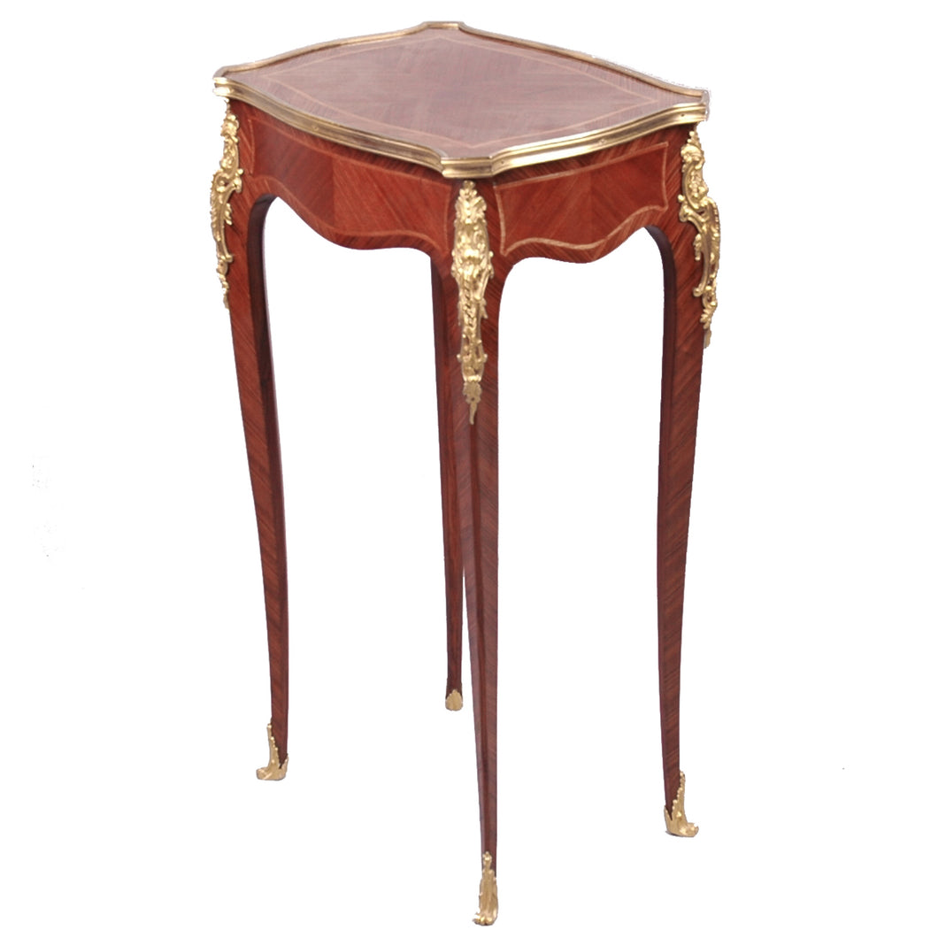 Antique Louis XV style ormolu mounted small table, France