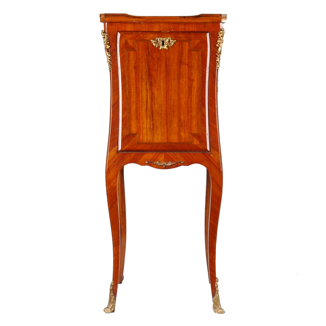 French, Louis XV style small desk or pedestal.