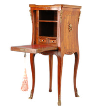 Load image into Gallery viewer, Louis XV style fall front desk/pedestal, France, 20th century