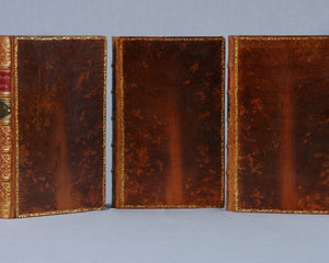 3 Volume Full Leather set of Macaulay's Essays