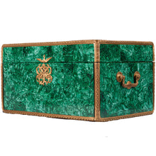 Load image into Gallery viewer, Tiffany Chrysanthemum Vermeil for 12 in Malachite Chest