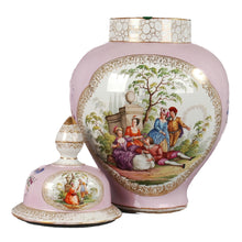 Load image into Gallery viewer, Augustus Rex Porcelain Ginger Jar by Helena Wolfsohn of Dresden Germany.  c. 1880