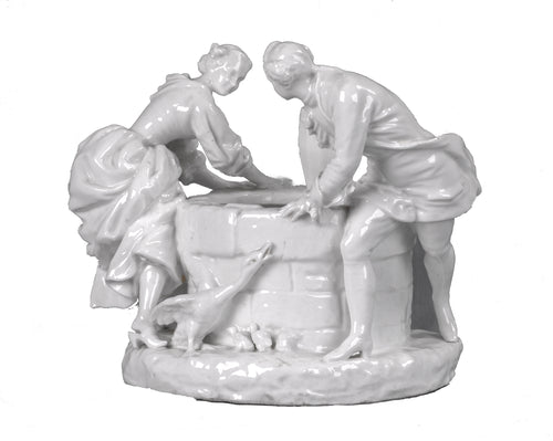 Meissen Porcelain Blanc de Chine Lovers at the Well