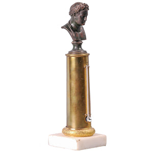Antique Column Thermometer  bust of Napoleon, France, c.1815