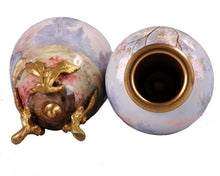 Load image into Gallery viewer, Pair Limoges Enamel Miniature Vases, France, c.1860