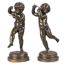 Load image into Gallery viewer, Antique Pair of Bronze Putti Signed Clodion, France