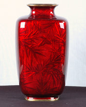 Load image into Gallery viewer, Pigeon Blood Vase, Signed Japan, c.1890