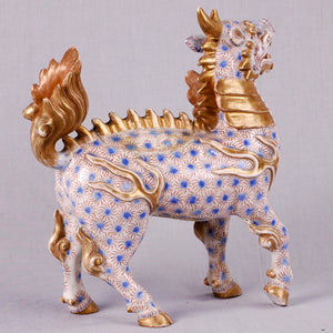 Rare Japanese Imari or Arita model of Kirin (or Qilin). Japan, c. 1775