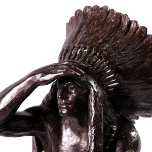 Bronze Indian, signed Massey Rhind, America, c.1919