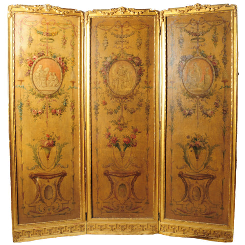 Louis XVI Style Folding Screen for privacy or room divider, France, c.1840