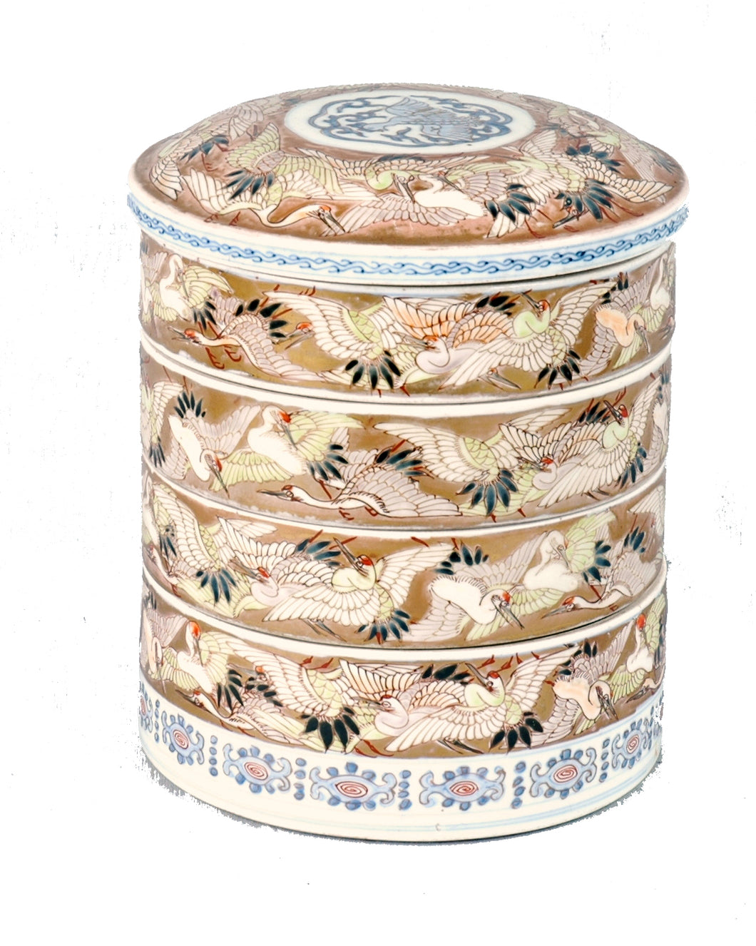 Antique Porcelain Sweet Meat or Stacking dishes, Qing Dynasty