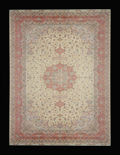 Rare and Large Tabriz Palace Size Oriental Rug-Part Silk