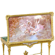 Load image into Gallery viewer, Miniature Ormolu Table with Vienna Enamel inserts, France/Vienna, c.1850