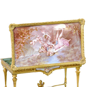 Miniature Ormolu Table with Vienna Enamel inserts, France/Vienna, c.1850