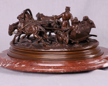 Load image into Gallery viewer, Russian Bronze Troika Sculpture