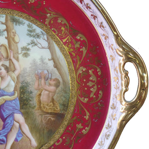 Royal Vienna Porcelain Tray, signed and marked, Austria, c.1880