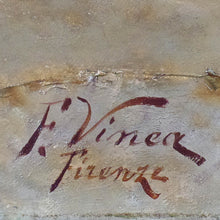 Load image into Gallery viewer, Oil Painting on canvas, signed F. Vinea, Firenze.  Italy, c.1870