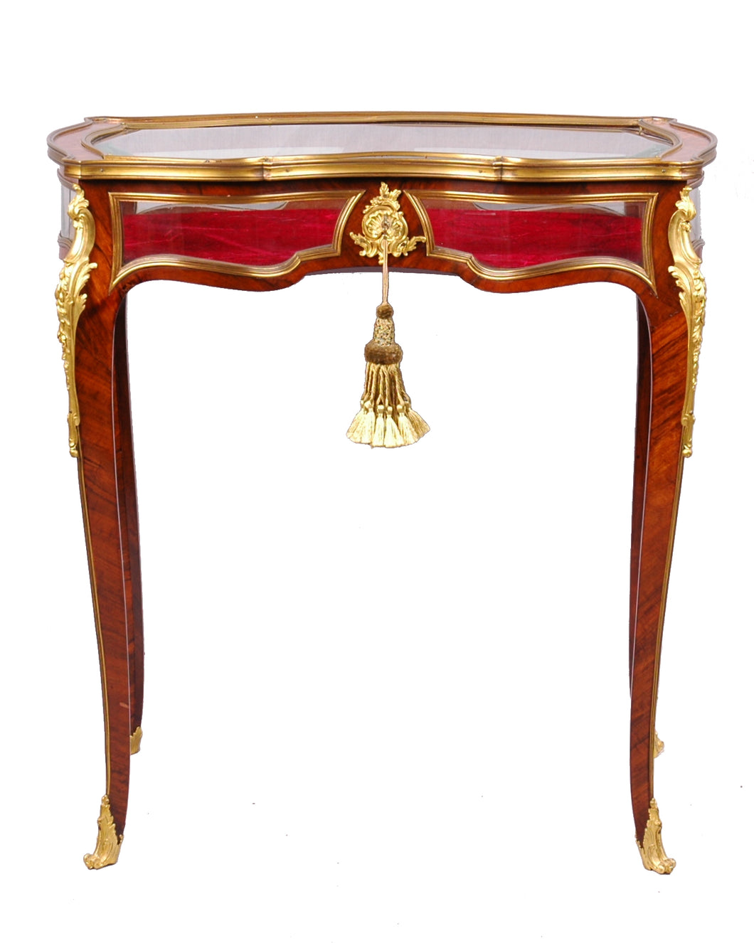 Antique Table Vitrine, Ormolu mounts, Louis XV style, France
