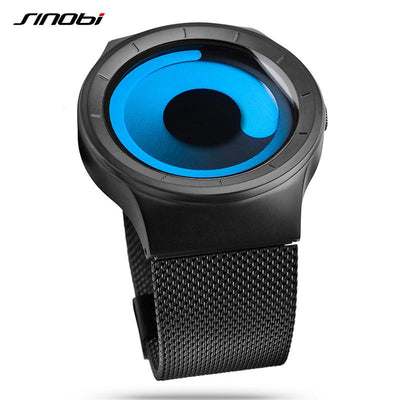SINOBI Unique Concept Watch Men High quality Stainless Steel Milan Band Modern Trend Sport Colorful Wrist Watches For Men