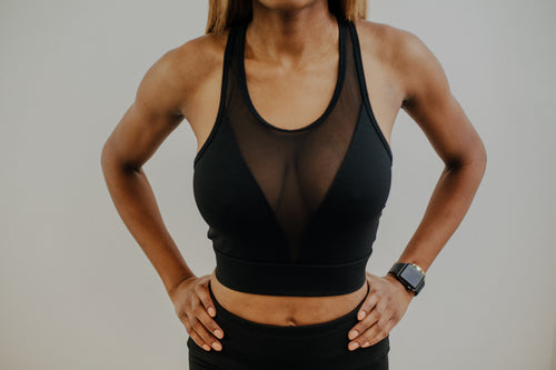Racer Crop- Sports Bra
