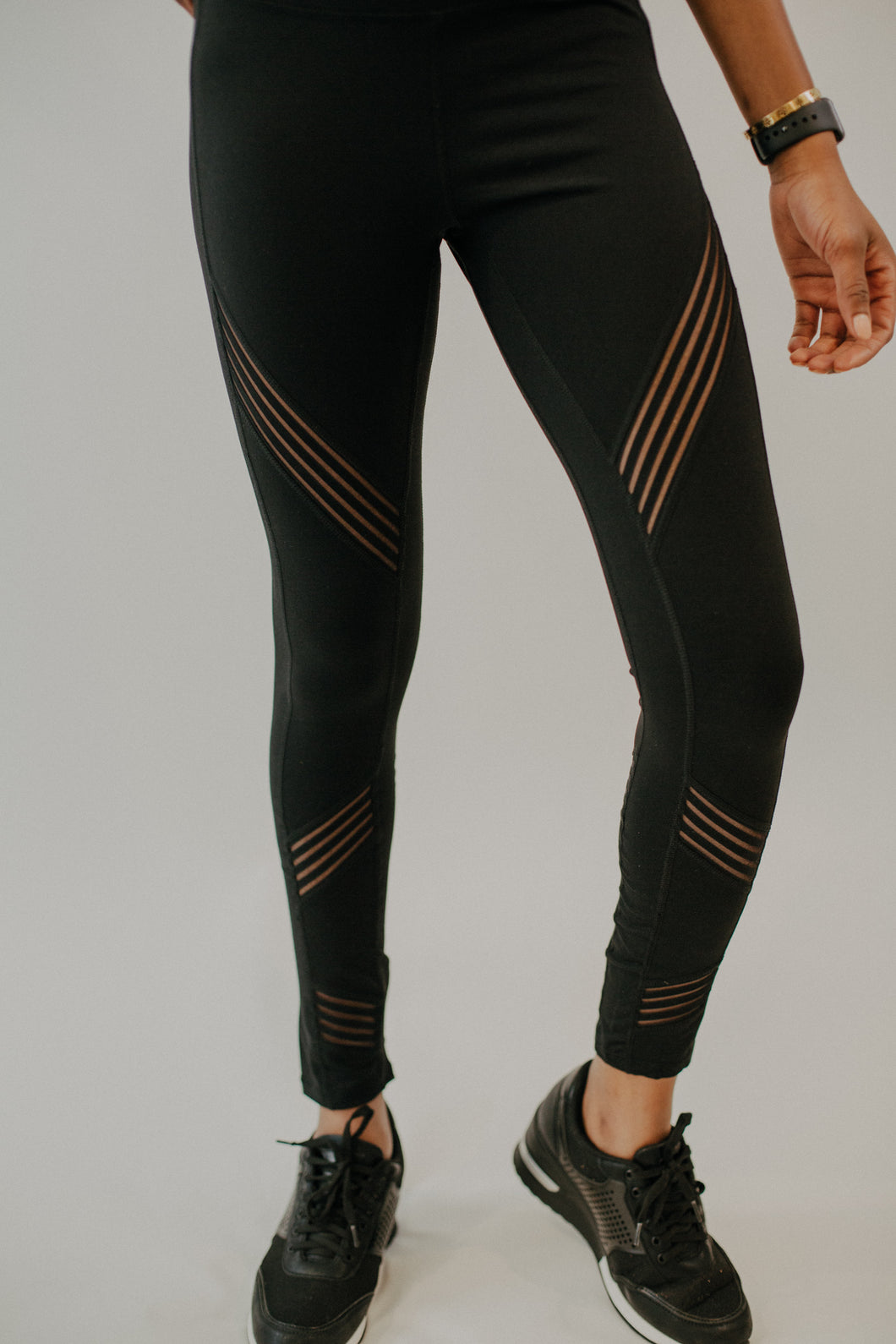 Dominique Diagonal Stripe Leggings