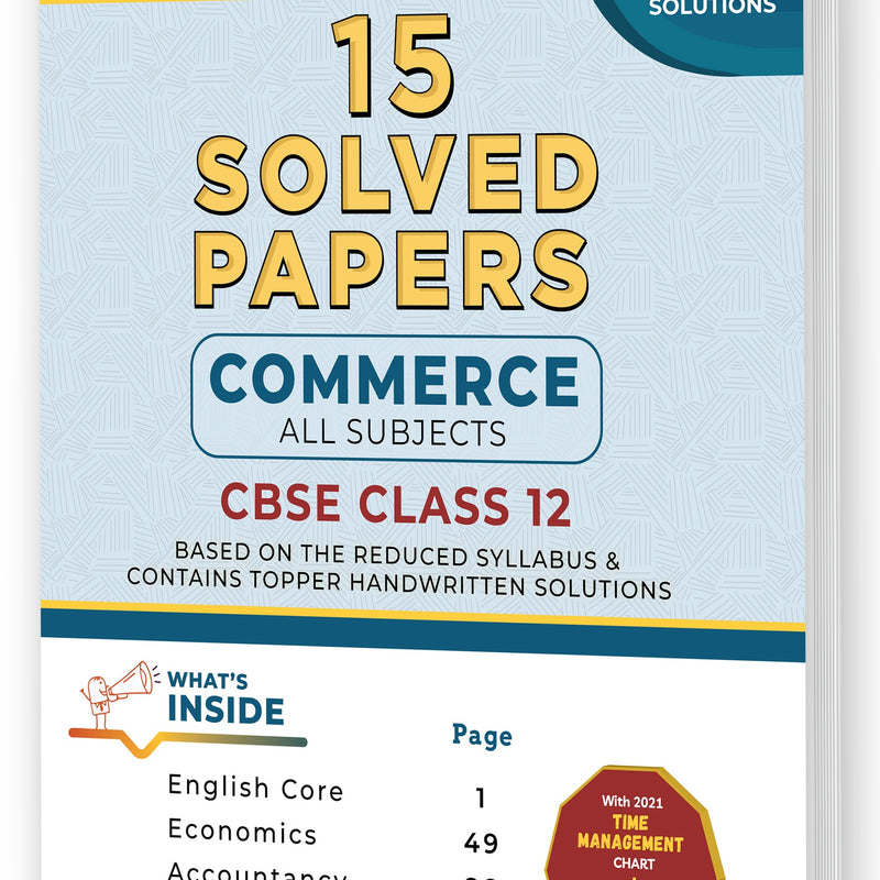 Educart CBSE Solved Papers Commerce Stream For Class 12 for 2021