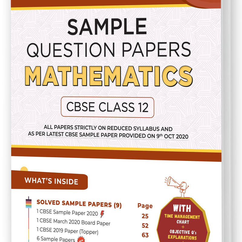 Educart CBSE Class 12 Mathematics Sample Question Papers 2021 (As Per 9th Oct CBSE Sample Paper)