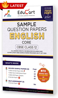 Educart CBSE Class 12 English Core Sample Question Papers 2021 (As Per 9th Oct CBSE Sample Paper)