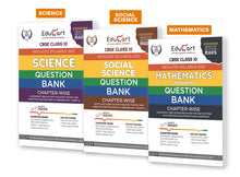 Load image into Gallery viewer, Educart Social Science,Science And Maths Class 10 Question Bank Combo Pack For 2021 Exam (With Reduced Syllabus) (Set Of 3 Books)