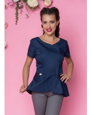 Beautician Uniform Basquine Navy Blue NR44