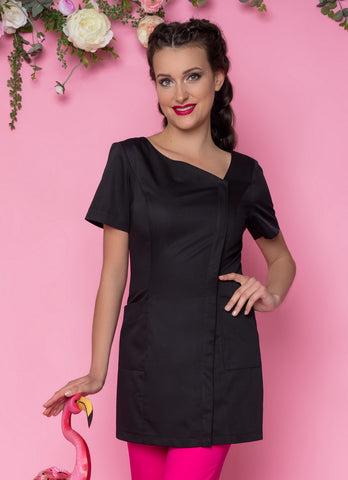 Beautician Uniform Black with zip NR49