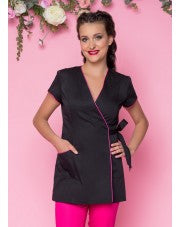 Beautician  Uniform Black with Fuchsias finish NR38