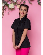 Beautician Uniform Black Fashion NR 9