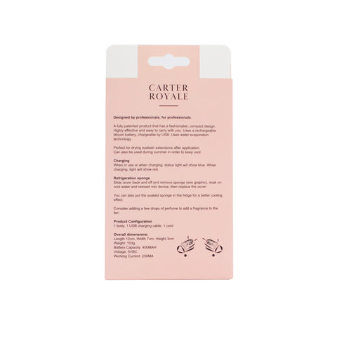 Carter Royale Eyelash Fan