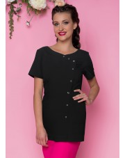 Beautician Uniform Black with sparkle buttons 70cm NR40
