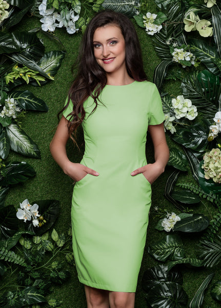 Beautician Uniform Dress Lime 90cm NR60