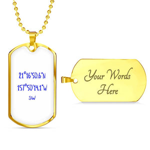 Waikiki Beach White Coordinates Necklace