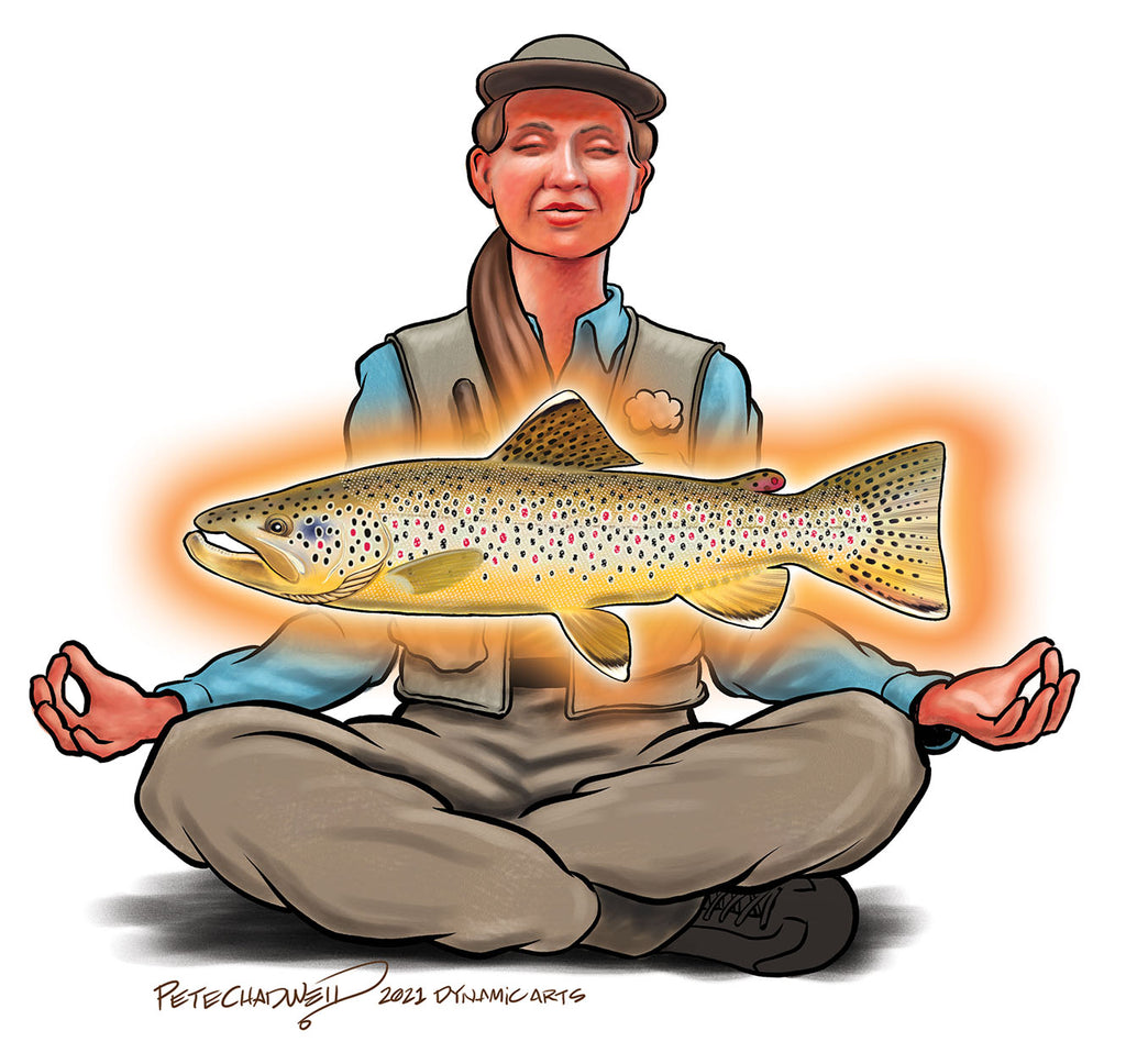 fly fishing meditation brown trout