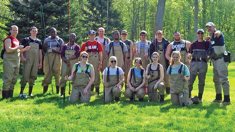 fly fishing class waders school