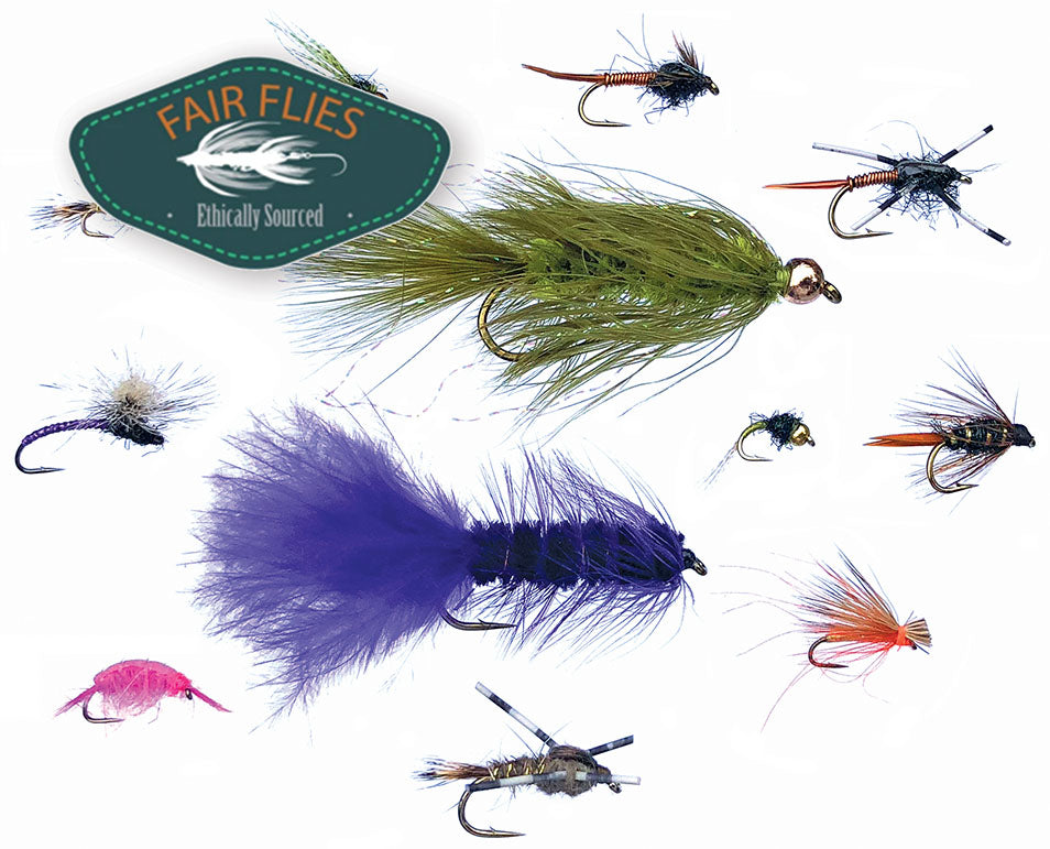12 Trout Flies (by Fair Flies) + 1 Year Flyfishing & Tying Journal Subscription