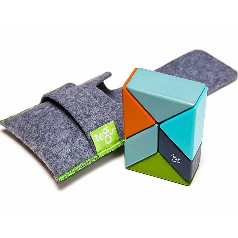 Tegu Magnetic Wooden Blocks Pocket 6 piezas Nelson