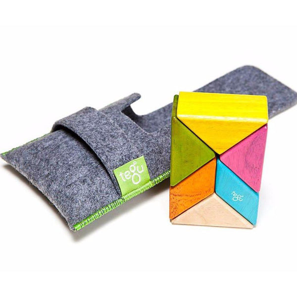 Tegu Magnetic Wooden Blocks Pocket 6 piezas Tints