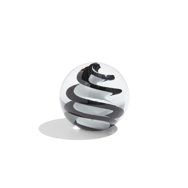 Glass Paperweight Black & White