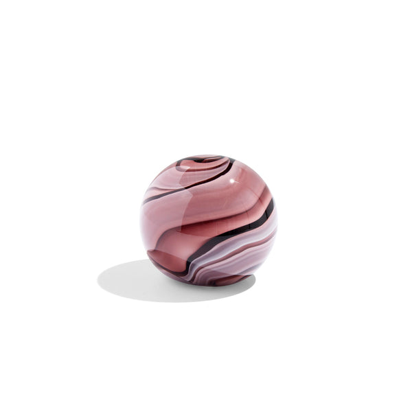 Glass Paperweight Purple