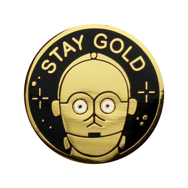 Pin Stay Gold C3PO